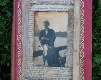 The Fortunate Lady vintage-style altered book for hanging