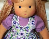 """Waldorf doll - """"Lilac flower3"""" -15-17 - 19 inches, custom dolls for children from 5 years old, daughter of a gift"""