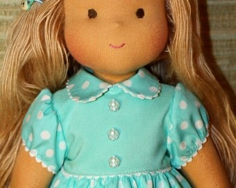 Waldorf doll classic - Kathy -15 inches, daughter of a gift, Christmas