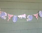 Team Pink or Team Blue Gender reveal banner Football Cheerleader sports theme