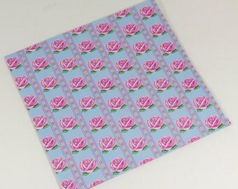 Vintage Gift Wrap - Rose Stripes