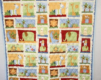 292090 - Baby Quilt - Baby Quilts - Baby Quilt Blanket - Infant Quilt - Crib Quilt - Boy Crib Quilt - Safari Quilt - Baby Crib Quilts