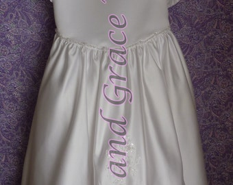 Communion Dress Size 8  with Choice of Handmade Veil (5)