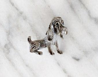 Vintage Gerrys Hound Dog Gray Brooch