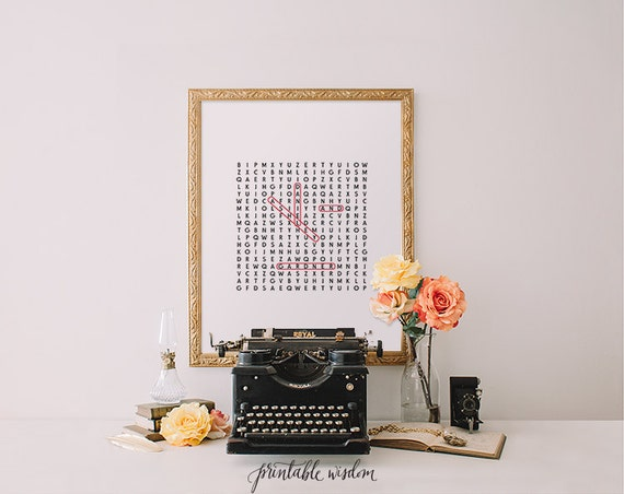 personalized crossword wall art
