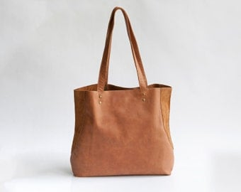 Brown leather tote bag Soft leather Everyday Bag Women