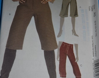 McCalls M5475 Misses/ Miss Petite Shorts and Knickers Sewing Pattern - UNCUT - Size 6 8 10 12 14