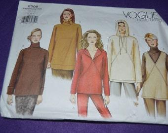 Vogue 2506  Misses Top Sewing Pattern - UNCUT- SIZE 8 10 12
