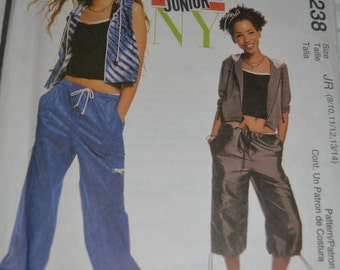 McCalls 2238 Junior's Jacket Vest and Pants in two lengths Sewing Pattern  - UNCUT - Size 9/10 - 11/12 - 13/14