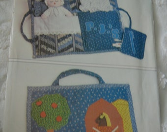 Butterick 4950 Quilted CHildrens Travel Bag Sewing Pattern - UNCUT -