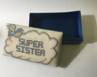 Vintage Hand Stitched Keepsake Box