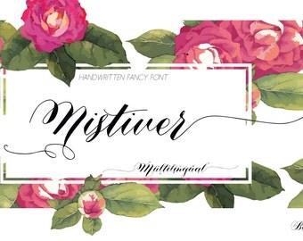 INSTANT DOWNLOAD | Digital Font | Nistiver Black font | single font file | Open Type Font (.otf)