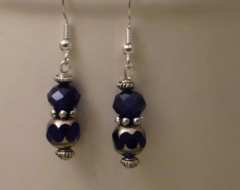 Cobalt blue cathedral earrings