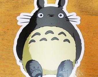 Totoro weatherproof vinyl decal, sticker.