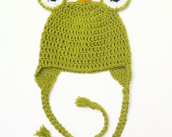 Frog Princess Hat, Newborn Frog Hat, Newborn Photo Prop, Baby Girls Hat, Baby Frog Hat, Crochet Frog Hat, Baby Shower Gift, Green baby hat