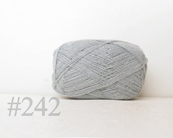 WOOL yarn 100%-Wool for knitting, crochet - very light blue #242