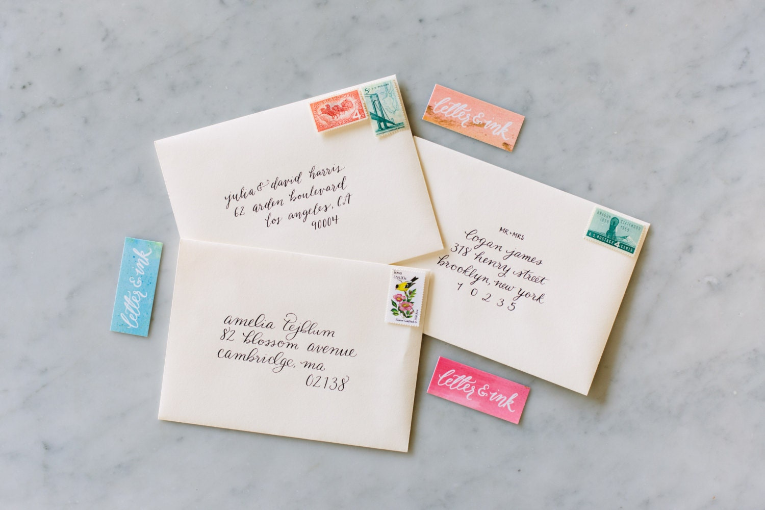 Calligraphy Addressed Envelopes Invitation Wedding