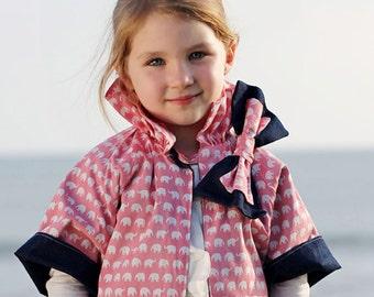 Reversible jacket pattern, girls jacket pattern, coat pattern, Girls clothing sewing pattern pdf, childrens sewing pattern, RUFFLE JACKET