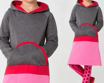 Girls dress pattern & leggings pattern, Childrens sewing pattern, Winter dress pattern PDF, Stretch pattern, girls clothing pattern, SALLY