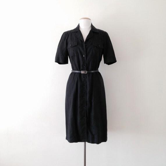 Black dress linen