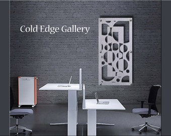 Home Office Art, Metal Wall Art, Art, Decor, Abstract, Contemporary, Modern, Sculpture