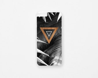 Palm Leaf Triangle iPhone 6 Case - Triangle iPhone Case - iPhone 6s Case - Geometric Illustration iPhone Case - Hard Plastic or Rubber