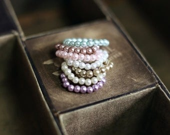 Pearl Bracelet, Photography Prop, gift, Newborn, Baby, Toddler, Child, Adult