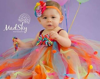 Birthday Sprinkle dress and headband set