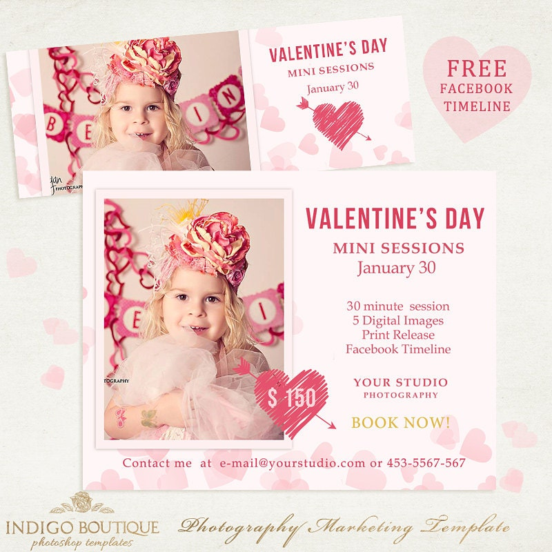 Valentines Day Mini Session Template With FREE Facebook