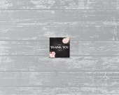 "INSTANT DOWNLOAD - Peony Chalk Thank You Printable 2"" Favor Tag, Wedding Tag, Party Tag"