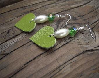 Original leather earrings