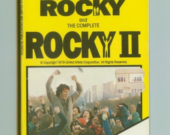 The Best Of Rocky And The Complete Rocky II Fotonovel 1970s Vintage Retro Movie Paperback Graphic Novel 1979  1st Edition