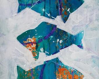 Three Turquoise Fish