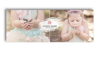 Facebook Timeline Template For Photographers - GLITTER GIRL - 1091