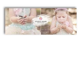 Facebook Timeline Template For Photographers - GLITTER GIRL - 1091
