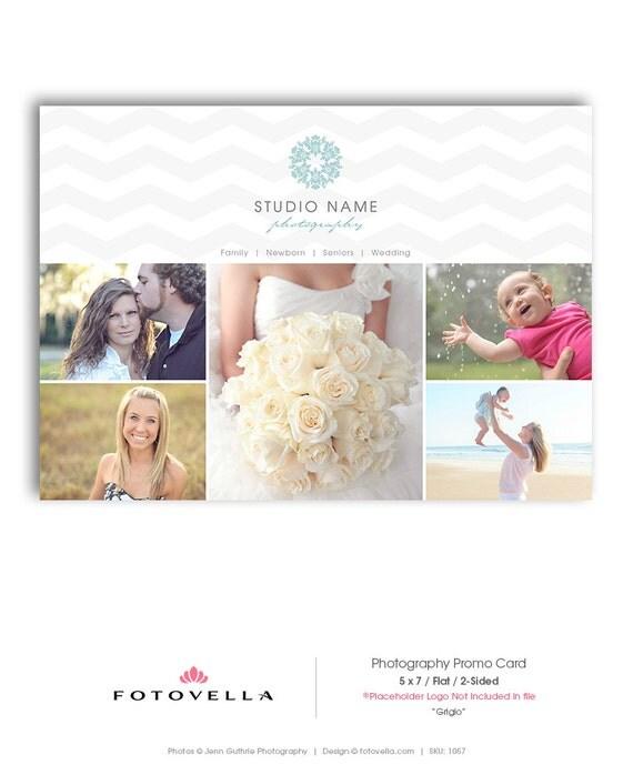 Photography Marketing Postcard Template 5X7 Promo Card