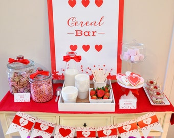 Cereal-ously Sweet Valentine CEREAL BAR/Breakfast Printable POSTER by Marbella Printables