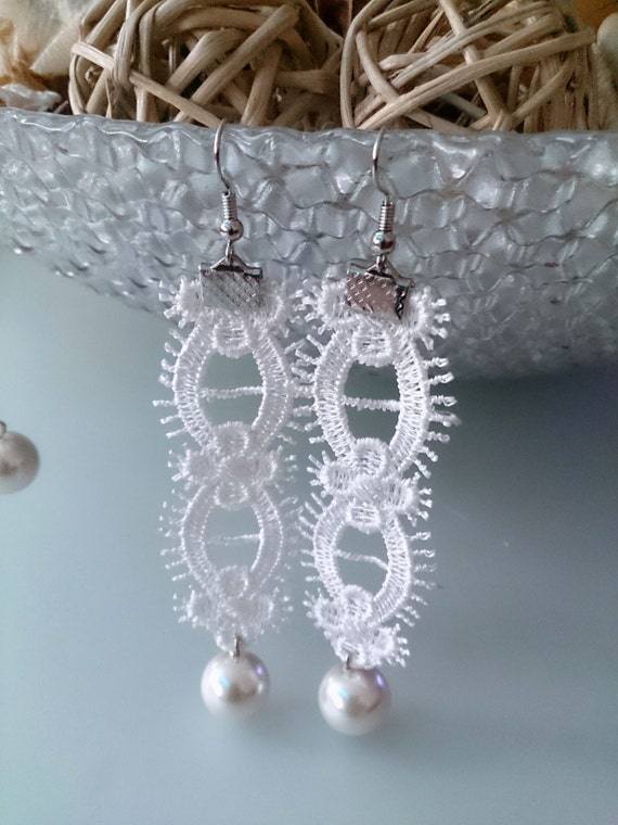 Ivory Wedding Jewelry Bridal Earrings Bridesmaid Earrings