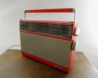 Vintage Soviet Transistor Radio VEF-317  USSR era 1986