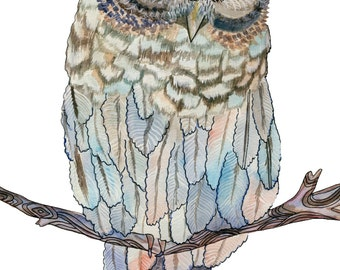 Sleeping Owl Greeting Card