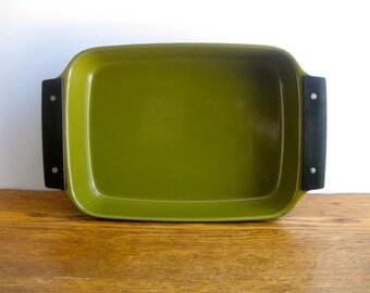 Vintage Cathrineholm Green Lasagna Pan