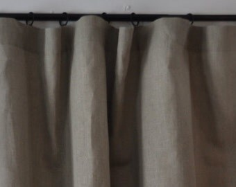 Rustic Washed Linen Curtain Drapery Panel Linen Drapes
