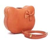 Cat Bag, Cat Backpack, Kitten Bag, Kawaii Stuff, Cute Bags, Travel Bag, Makeup Bag, Leather Bag, Leather Shoulder Bag, Brown Leather Bag,