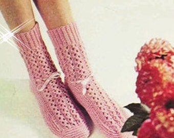 Knitting Patterns Bed Socks Easy : Easy Adjustable Socks - PDF Crochet Pattern - Instant ...