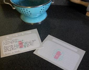 "Cute Oven Mitt Recipe Cards, Set of 20, 4x6"""