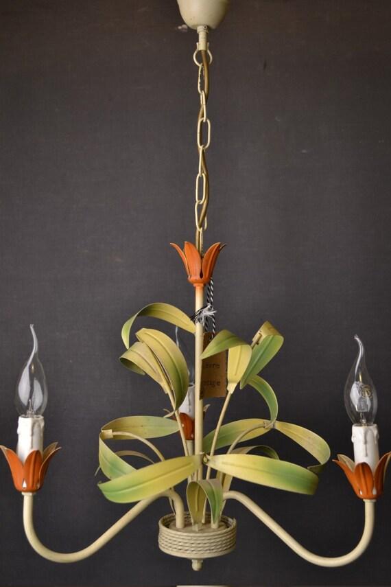 Tole flower chandelier (1406219)