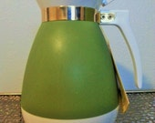 Vintage Mid Century Mod 1960s Avocado Insulated Pitcher by West Bend - New with Tags