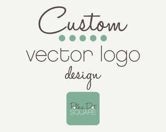 Custom vector logo design OOAK One of a Kind Business branding Etsy logo Photography logo Business logo Vector logo