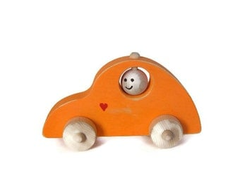 Wooden Toy Volkswagon, Wood Car, Push Toy