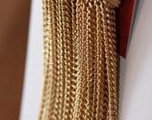 Long Gold Chain Tassel Earrings, Greek Goddess Earrings, Gold Statement Dangle Earrings, Bold Gold Dangle Earrings, Gold Chandelier Earrings